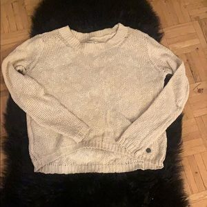 Loose knit cotton sweater